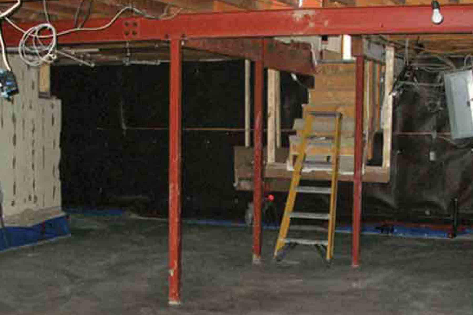 floors require coating triple leveled custom r project existing be was on older floor basemen renovation to normally concrete level this and epoxy houses the old over years leveling basement porfolio in